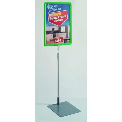 Eco Showcard Stand - A4 Frame Green 1