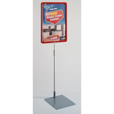 Eco Showcard Stand - A4 Frame Red 1