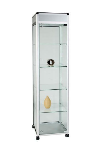 Unibox UB011 - Full Display Tower Showcase with Header Panel - Standard