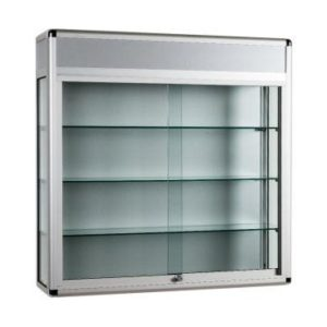 Unibox UB021 - Wall Display Cabinet with Header