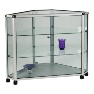 Unibox UB22 - Full Glass Display Corner Counter Showcase