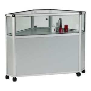 Unibox UB24 - One Third Glass Corner Display Counter Showcase