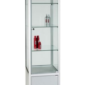 Unibox UB025 - 3/4 Display Tower Showcase with Storage - Standard