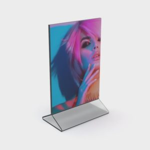 PS8033 - Double Sided Freestanding Poster Holder: A4 Port