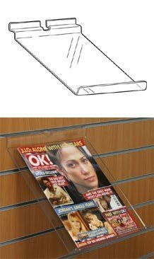 SL1207 - Sloping Slatwall Shelf with Upstand: Upstand - 25mm - 125mm (W) x 250mm (D) 1