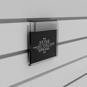 SL1761 - Slatwall Acrylic Information Holders / Display: A7 Land
