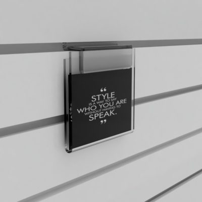 SL1764 - Slatwall Acrylic Information Holders / Display: A5 Land