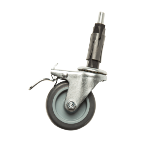 """R3B 3"""" Castor Wheel with Brake for Clothes Rails"""