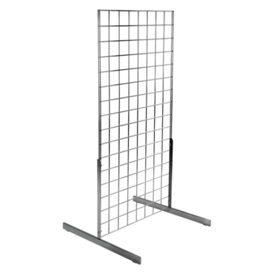 Gridwall Mesh Two Way Display Stand with Standard Legs