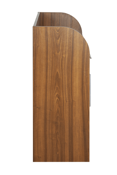Walnut Effect Dumbwaiter - Side View
