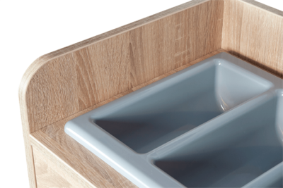 Oak Cutlery Stand - Detail View