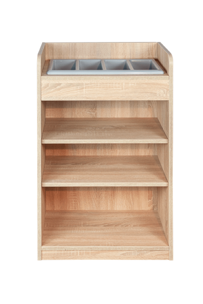 Oak Cutlery Stand - Front View
