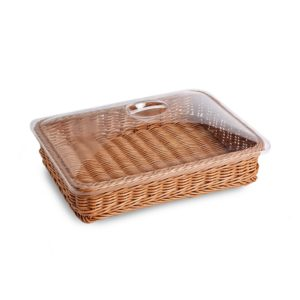 PL060-Clear Lid For 40cm Polywicker Display Baskets