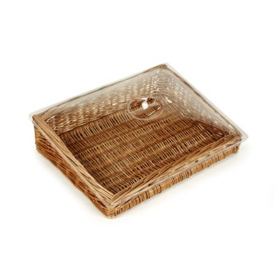 PL050-Clear Lid For 40cm Wicker Display Baskets 1