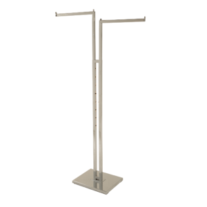 R116 - Adjustable 2 Arm Merchandising Rail With Straight Arms