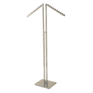 R117 - Adjustable 2 Sloping Arm Merchandising Rail