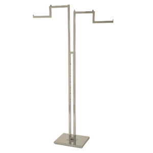 R118 - Adjustable 2 Arm Merchandising Rail With Stepped Arms