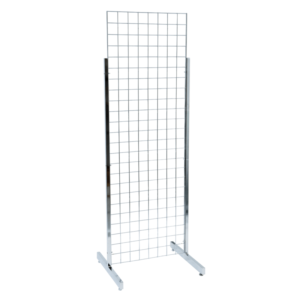 Gridwall Mesh Two Way Display Stand with Large Legs