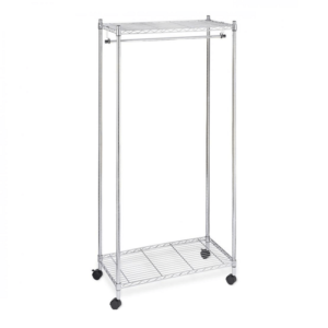 Chrome Wire Shelving Garment Rail