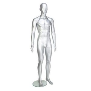 GAM351 Male Mannequin - Abstract - Gloss Silver