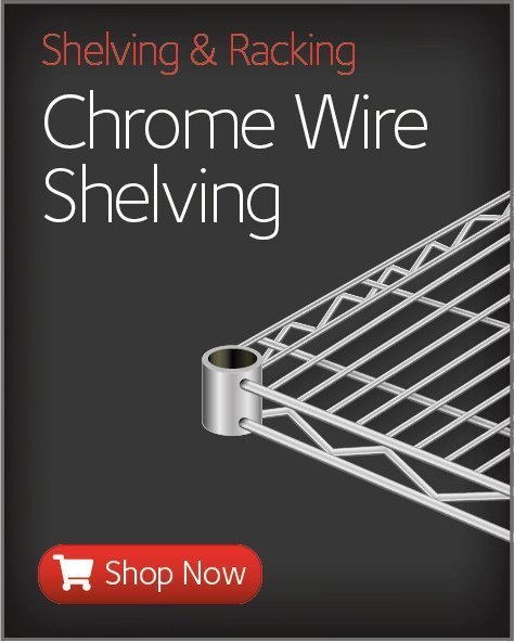 Save on Chrome Wire Shelving and Accessories