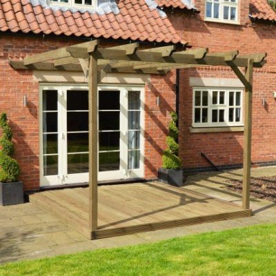 Wall Mounted Pergola And Decking Kit 1
