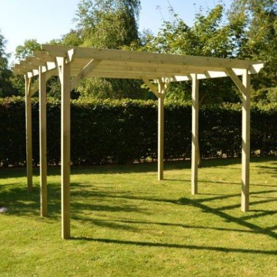 Garden Pergola - Sculpted Rafter End - 6 Post 1