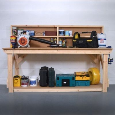 Mdf Wooden Work Bench with Back Panel 1