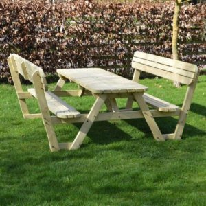 Lyddington Round Picnic Bench - Light Green