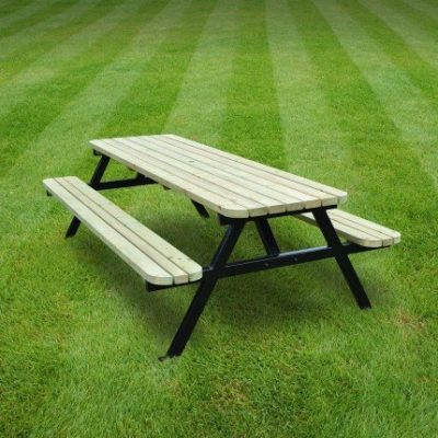Oakham Steel Rounded Picnic Bench 1