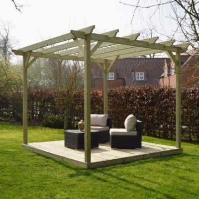 Wooden Pergola And Decking Kit 1