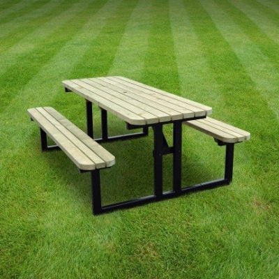 Tinwell Steel Rounded Picnic Bench 1