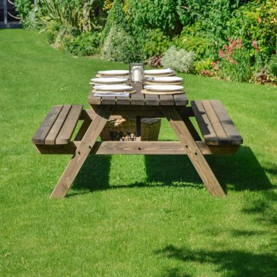 Oakham Rounded Picnic Bench 4