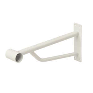 R157B - Projection Bracket for 25mm Tube - White