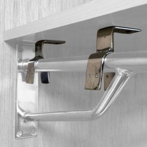 R157E - Projection Bracket Shelf Supports - Pack of 4 - Chrome
