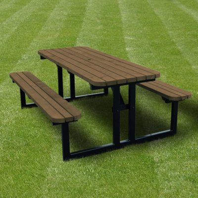 Tinwell Steel Rounded Picnic Bench 2