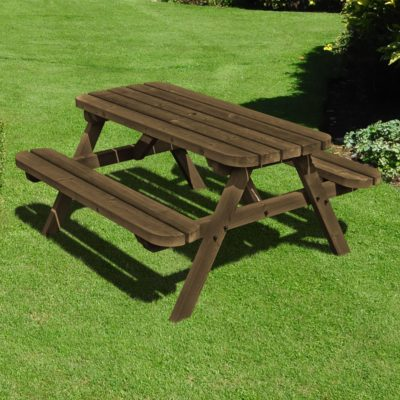 Oakham Steel Rounded Picnic Bench 2