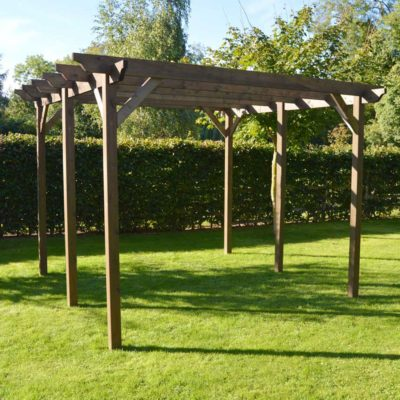 Garden Pergola - Sculpted Rafter End - 6 Post 2