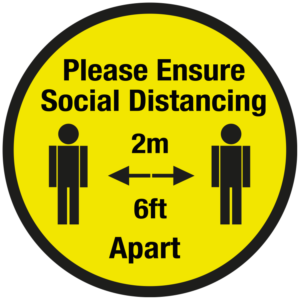 SD028 - Please Ensure Social Distancing Floor Sticker