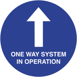 SD031 One Way System Floor Sign
