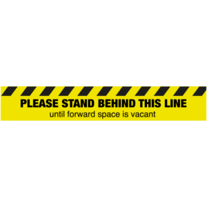 SD043 Please Stand Behind This Line Floor Sticker