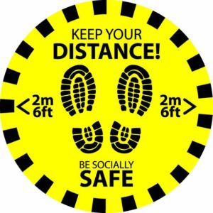 Keep Your Distance - Circular - 300mm