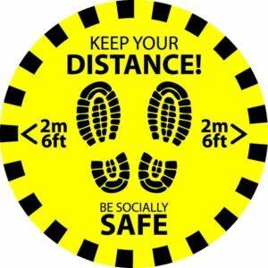 Keep Your Distance - Circular - 300mm