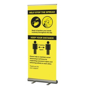 SD151 Social Distancing Roller Banner