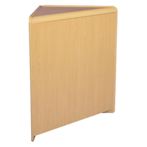 R1522 Solid Front Corner Counter - Maple