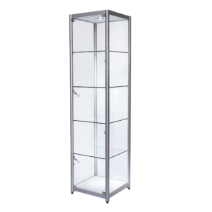 R1558 R1559 R1560 R1561 Single Door Aluminium Tower Showcase