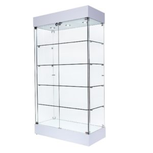 R1571 R1572 Double Door Frameless Tower Showcase