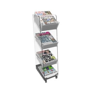 Bartuf B001674 Flexi-News Single Tower Newspaper Display