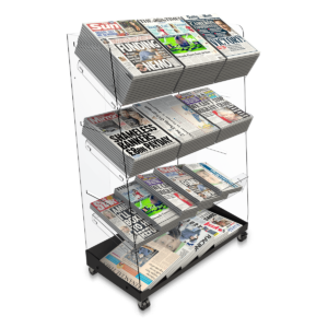 Bartuf B001648 Flexi-News Triple Tower Newspaper Display