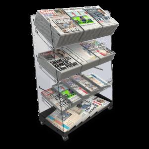 Bartuf B001648 Flexi-News Triple Tower Newspaper Display